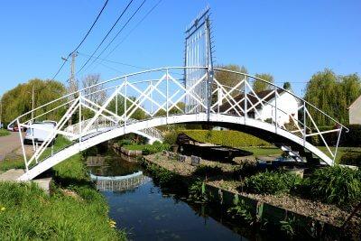 Pont sur les hortillonnages - Somme